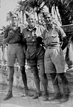 Ron, on right, with RAF chums in North Africa