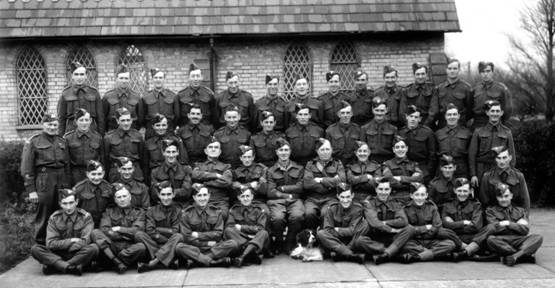 Chapel St Leonards, Anderby and Hogsthorpe Members of the Home Guard © AE Wrate, Skegness