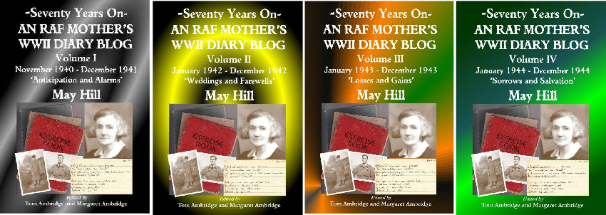 4 KINDLE volumes of 'An RAF Mother's WWII Diary Blog'