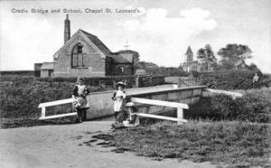 Cradle Bridge, School and St Leonards Church, around 1910