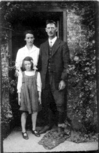 May and Will with Rene as a young schoolgirl