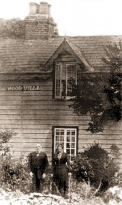 May's grandparents outside Wood Villa, their home near Trusthorpe Hall, around 1895