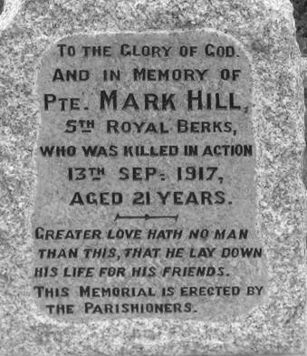 War Memorial - Original Inscription